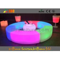 Buy cheap PE LED Bar Stool / Bench Curved Durable For Outdoor / Indoor from wholesalers