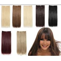 China Bright Blonde Human Synthetic Hair Extensions No Chemical Processed Virgin Hair wholesale