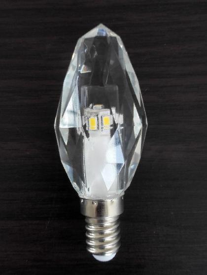 Quality luz de cristal K5 220V de abrigo de cristal E14 da vela do diodo emissor de luz 3W dimmable for sale