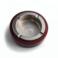 China Eco Friendly Covered Tabletop Ashtrays , Office Retro Ashtrays 3D Surface Design on sale