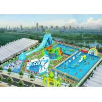 Buy cheap Safety Outdoor Playground Inflatable Water Parks For Adult And Kids / Aqua Park from wholesalers