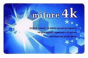 Quality S70 card/Mifare card/Mifare 4k card for sale