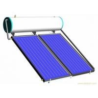 China 300liter capacity high pressure solar geyser with 2pcs flat plate solar thermal collectors wholesale