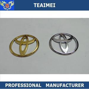 China Car Badge Emblem Toyota Car Logo Silver Sticker High Temperature ABS wholesale