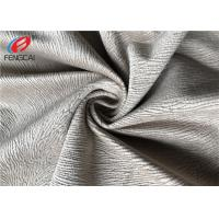 China Burnout Velboa Sofa Velvet Upholstery Fabric For Home Textiel , 190GSM Weight wholesale