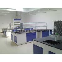 Educational Steel Laboratory Furniture , Chemical Resistant Lab Tables For Schools