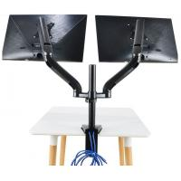 China OEM LCD Monitor Lift , Telescopic Multi - Function Alloy Dual-Screen Display Computer Stand Rotary Lifting Bracket wholesale