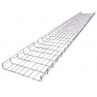 China Light duty galvanized wave ladder perforated wire mesh trays system, 350*50mm wholesale