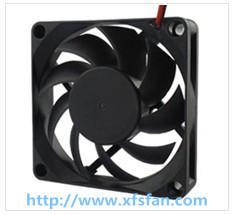 70*70*15mm 12V/24V DC Black Plastic Brushless Cooling Fan DC7015