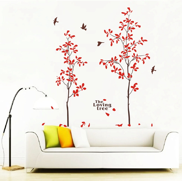 Quality New Wall Stickers/ DIY Removable New Wall Sticker Wall Home Decor Art The Loving Tree Decal Mural Paper in China for sale