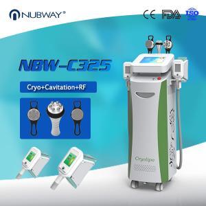 China Promotion 80% clinic used 5 handles cryo  cavitation rf cryolipolysys cool fat freeze slimming skin tightening machine on sale