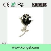 China 2GB/4GB necklace black rose jewel necklace usb flash drive,metal usb pendrive 2.0 wholesale