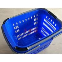 China Virgin PP Rolling Shopping Basket With Wheels  /  Store Trolley Shopping Basket wholesale
