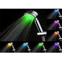 China Bathroom Temperature Controlled 7 Led Color Changing Shower Head With Handheld wholesale