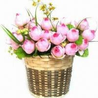 China Flower Basket, Pastoral Home Furnishing, Made of Bamboo and Rattan wholesale