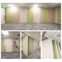 Office Movable Partition Wall Melamin Finish Top Hung Rubber Seals