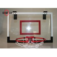 China Wall Mounted Mini Basketball Hoop45 X 30cm Clear Backboard For Family / Office wholesale