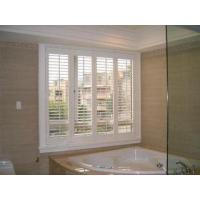 China China Aluminum or PVC material white color indoor window louver shutter wholesale