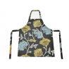 China Flower Pattern Cotton Kitchen Apron , Women Bib Home Kitchen Apron With Pockets wholesale