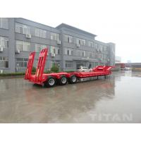 China 3 axles low loader semi trailer with fuwa axle  carry construction equipment for sale wholesale