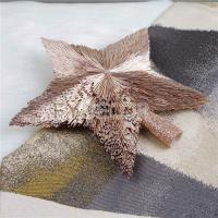 China Rose Gold Star Ornament For Christmas Tree Decoration on sale