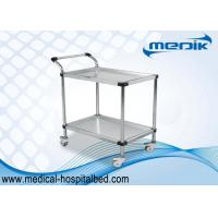 China Detachable Double Shelves Medical Instrument Trolley With Pushing Hand wholesale