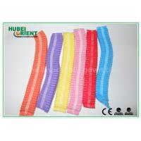 China Dustproof Non Woven Bouffant Cap / Surgical Bouffant Caps With Double Elastic on sale