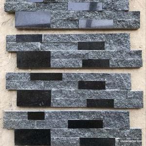 China Natural stone , Natural Black Granite Wall Stone Cladding Ledge Stone wholesale
