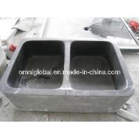 China Absolute Black Granite Kitchen Stone Sink (Double Bowl) on sale
