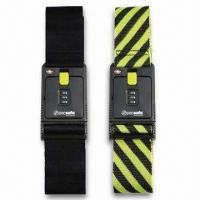 China Black/Yellow Luggage Straps/Belts, Available in Various Types, OEM Order are Welcome wholesale