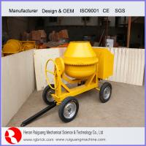 portable concrete mixer with steel drum