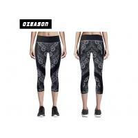 China Custom Pritned High Waist Yoga Pants For Adult / Kids Moisture-wicking wholesale
