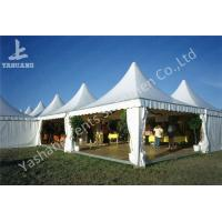 China Weather and Fire Resistant Array Pagoda Fabric White Outdoor Tent Party Canopy wholesale