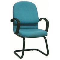 China Metal Tube Colorful Fabric Office Chairs No Wheels With PP Cover Stylish wholesale