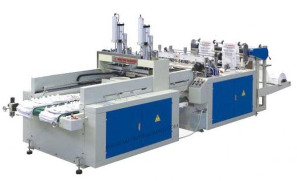 Quality DZCX2 Series Computer Control Double Lines Full Automatic T-Shirt Bag Making Machin for sale