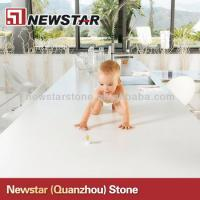 China Cheap polished white artificial quartz countertop wholesale