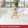 China Cheap polished white artificial quartz countertop wholesale