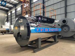 China 1.5 Ton 1500kg 100hp Automatic Diesel Fired Steam Boiler For Sauna, Steam Cleaning Industry wholesale