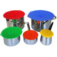 China Food Fresh Silicone Cooking Lids For Bowls , Eco - Friendly Silicone Cup Lids wholesale