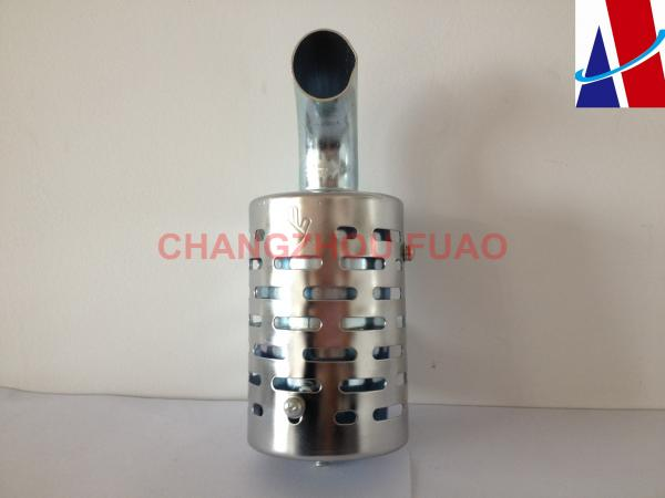 Quality Silencer Assembly Silver Diesel Engine Spare Parts with Hand Mark for sale
