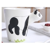 China Hand Printed 15 Ounce 3D Ceramic Reusable Coffee Cup wholesale