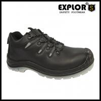 China Men's heavy duty safety shoes with steel toe work shoes waterproof boots brown wholesale