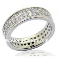 China 925 silver round circle full cz rings wholesale jewelry wholesale