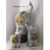 Animal Elephants Terracotta Garden Ornaments For Outdoor / Indoor
