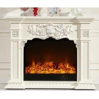 Luxurious 750w 1500w Solid Wood Fireplaces Oak Electric Led Fireplace