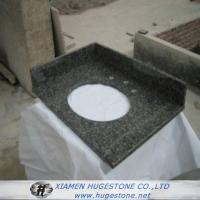 China Dark Grey G654 Granite Sink Countertops, Bathroom Dark Grey Sink Countertops wholesale
