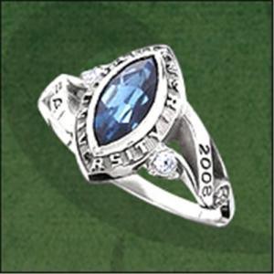 China 2010 fashion gemstone school  ring wholesale