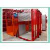 China Dobule Cabin Rack And Pinion Hoist For Power Plants / Bridges Building wholesale