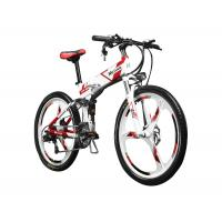 China 26 inch Folding Mountain Electric Bike With Suspension and Shimano Derailleur wholesale