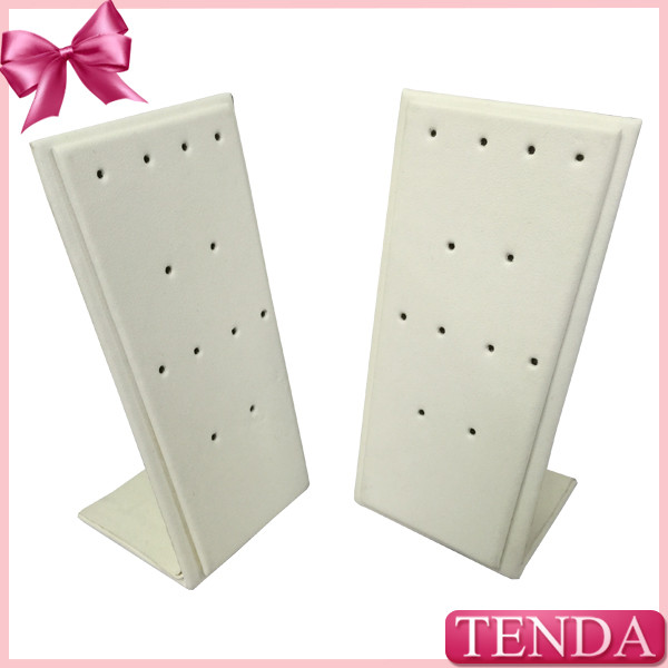 Quality White Black Leather Metal Wooden Earring Jewellery Display Stands for Jewelry for sale